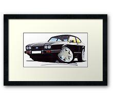 Ford Capri (Mk3) Black Framed Print
