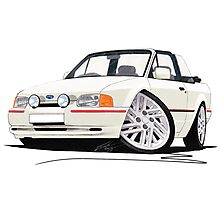 Ford Escort XR3i Cabriolet (90 Spec) White Photographic Print