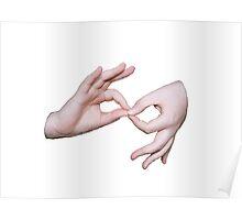 ASL sign language Poster
