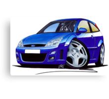 Ford Focus RS Blue Canvas Print