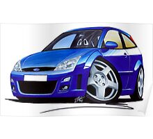 Ford Focus RS Blue Poster