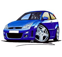 Ford Focus RS Blue Photographic Print