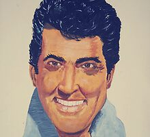 Dean Martin - Watercolour by Anthony Superina