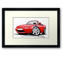 Mazda MX5 / Miata (Mk1) Red Framed Print