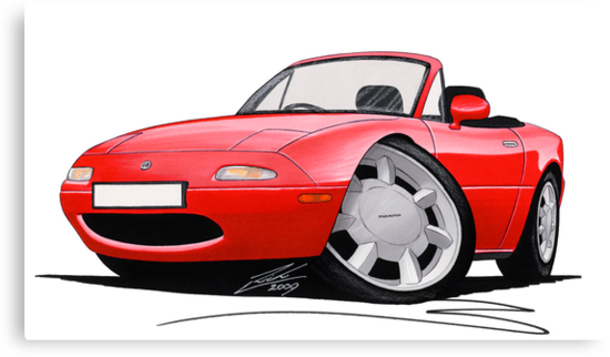 Mazda MX5 / Miata (Mk1) Red by Richard Yeomans