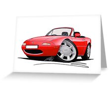 Mazda MX5 / Miata (Mk1) Red Greeting Card