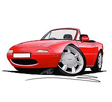 Mazda MX5 / Miata (Mk1) Red Photographic Print