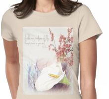 Keep peace in your soul Womens Fitted T-Shirt