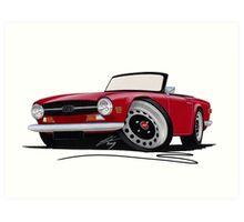 Triumph TR6 Carmine Red Art Print