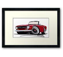 Triumph TR6 Carmine Red Framed Print