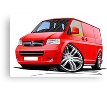 VW T5 Sportline Van Red Canvas Print