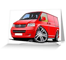 VW T5 Sportline Van Red Greeting Card