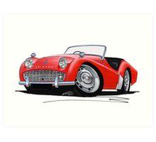 Triumph TR3A Red Art Print