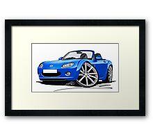 Mazda MX5 (Mk3) Blue Framed Print