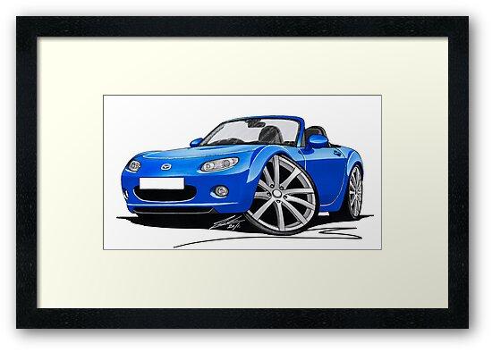 Mazda MX5 (Mk3) Blue by Richard Yeomans