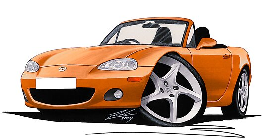 Mazda MX5 (Mk2) Gold by Richard Yeomans