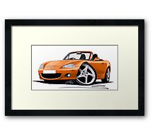 Mazda MX5 (Mk2) Gold Framed Print