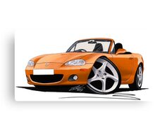 Mazda MX5 (Mk2) Gold Canvas Print