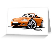 Mazda MX5 (Mk2) Gold Greeting Card