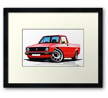 VW Caddy Red Framed Print