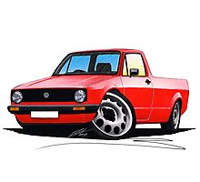 VW Caddy Red Photographic Print