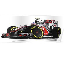 F1 2012 - McLaren MP4-27 - Jenson Button Poster