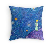 The Cosmic Little Prince Throw Pillow