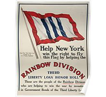 Help New York win the right to fly this flag by helping the Rainbow Division 002 Poster