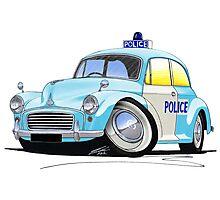 Morris Minor Police Car Photographic Print