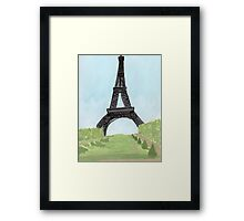 Eiffel Tower, Watercolor and India Ink Framed Print