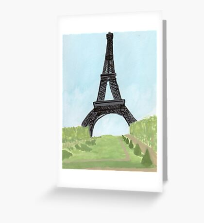 Eiffel Tower, Watercolor and India Ink Greeting Card