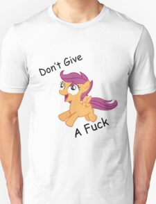 Don't Give A Fuck Scoots Unisex T-Shirt