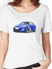 Hyundai Veloster Blue Women's Relaxed Fit T-Shirt