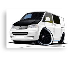 VW T5 (A) White Canvas Print