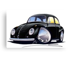 VW Beetle Black Canvas Print