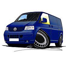 VW T5 Transporter Van Indian Blue Photographic Print