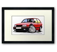 VW Polo (Mk3) G40 Red Framed Print