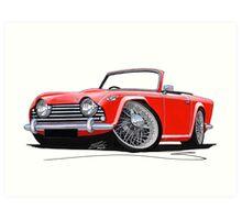 Triumph TR5 Red Art Print