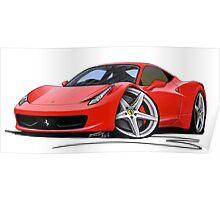 Ferrari 458 Italia Red Poster