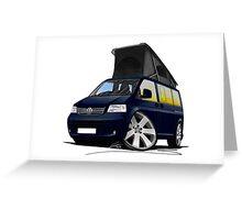 VW T5 California Camper Van Dark Blue Greeting Card