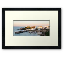Evening Harbour Framed Print