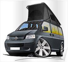 VW T5 California Camper Van Grey Poster