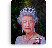 HM The Queen Canvas Print