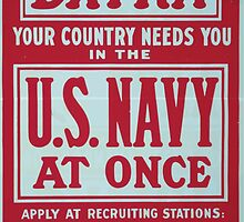 Extra Your country needs you in the US Navy at once Womens Auxiliary Naval Recruiting 002 by wetdryvac
