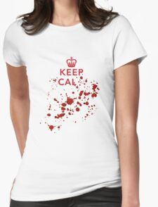 Keep cal... Womens Fitted T-Shirt