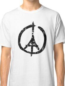 Pray For Paris Peace Sign Classic T-Shirt