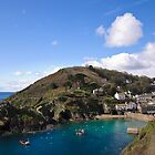Polperro Harbour on a Peaceful Day by Simon R. Court