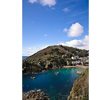 Polperro Harbour on a Peaceful Day Photographic Print