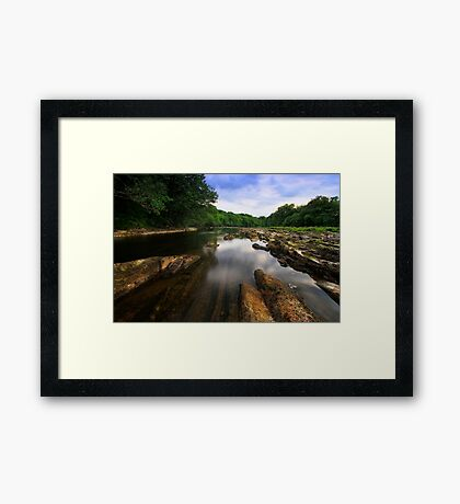 """The Rivers Low"" Framed Print"