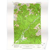 USGS Topo Map Washington State WA Marblemount 242181 1953 62500 Poster